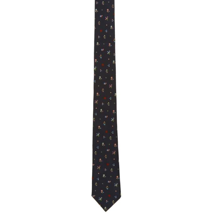 Photo: Paul Smith Navy Silk Flowers Tie