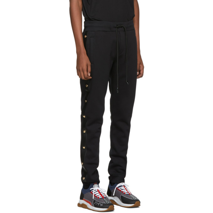 Versace Jeans Couture Black Side Stud Jogger Lounge Pants