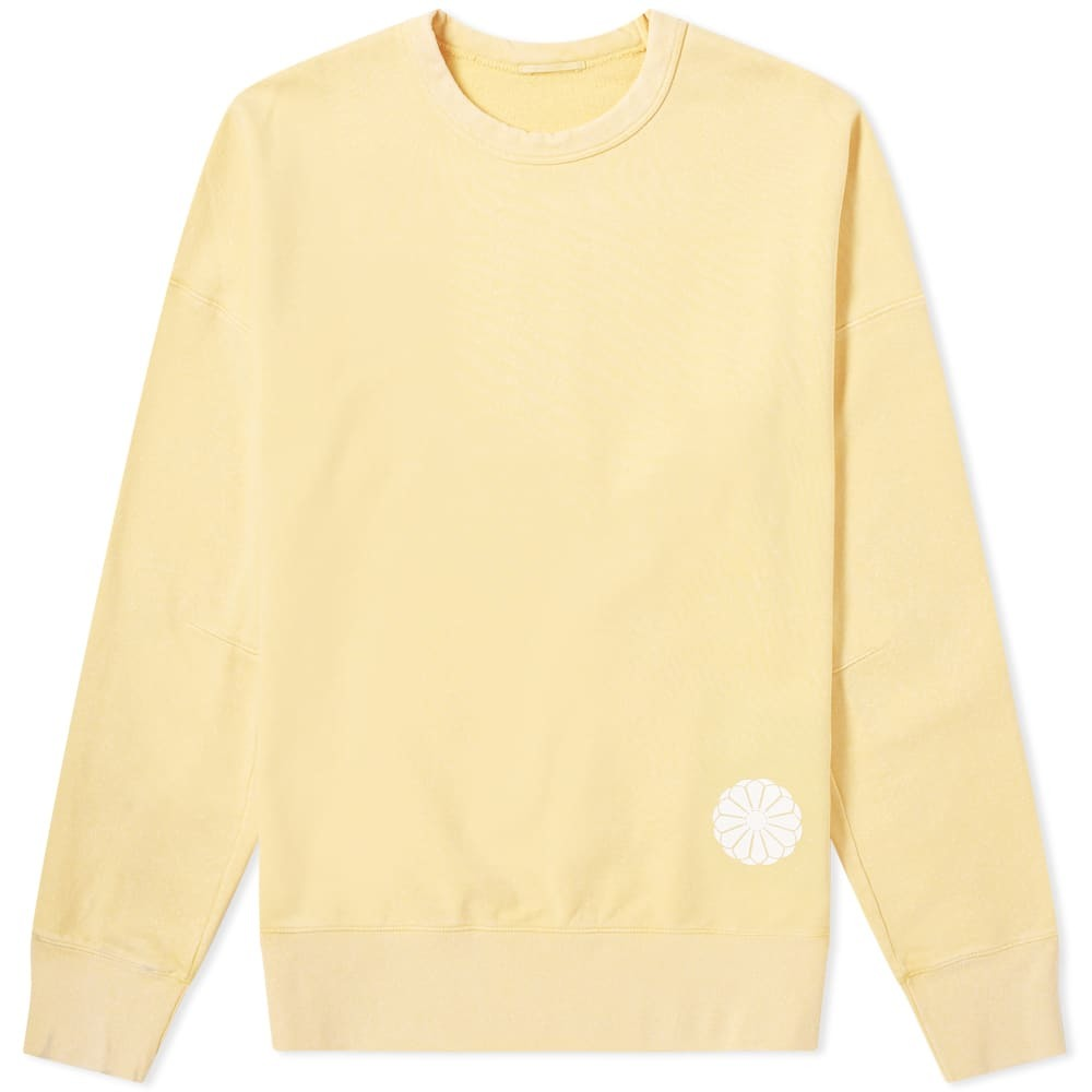 Photo: Ten C Logo Patch Sweat Yellow