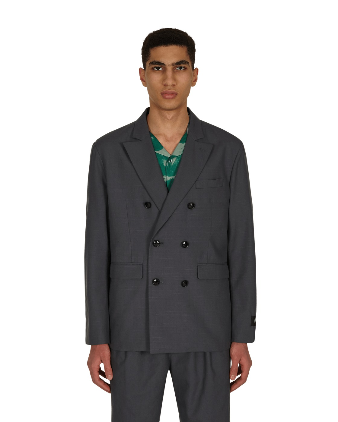 Photo: Stussy Double Breasted Jacket Grey