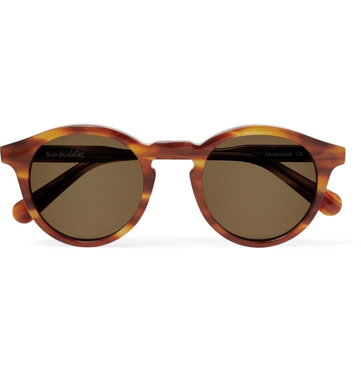 Photo: Sun Buddies - Zinedine Round-Frame Tortoiseshell Acetate Sunglasses - Tortoiseshell