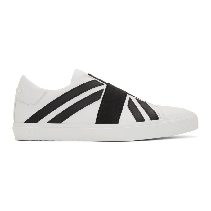 Photo: Burberry White and Black Cedbury Sneakers
