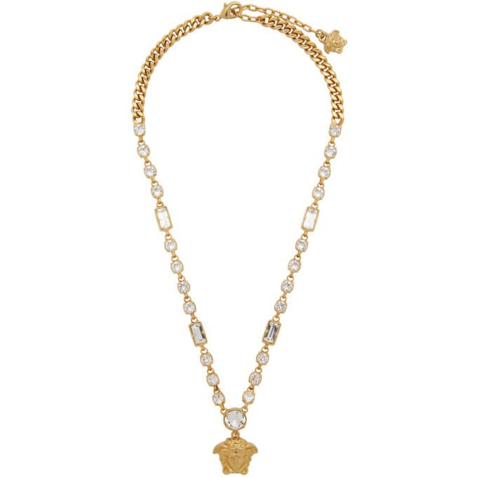 Versace Gold Medusa Pendant Chain Necklace