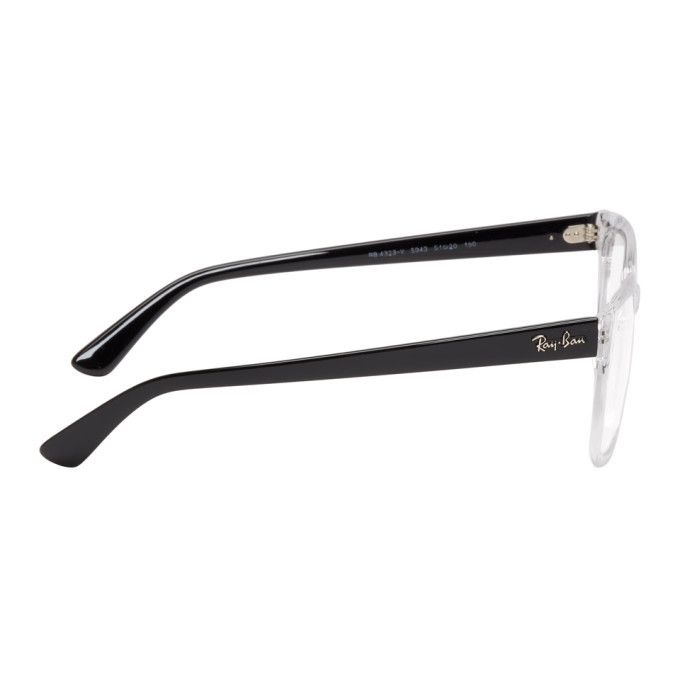 Ray-Ban Transparent and Black Highstreet Glasses