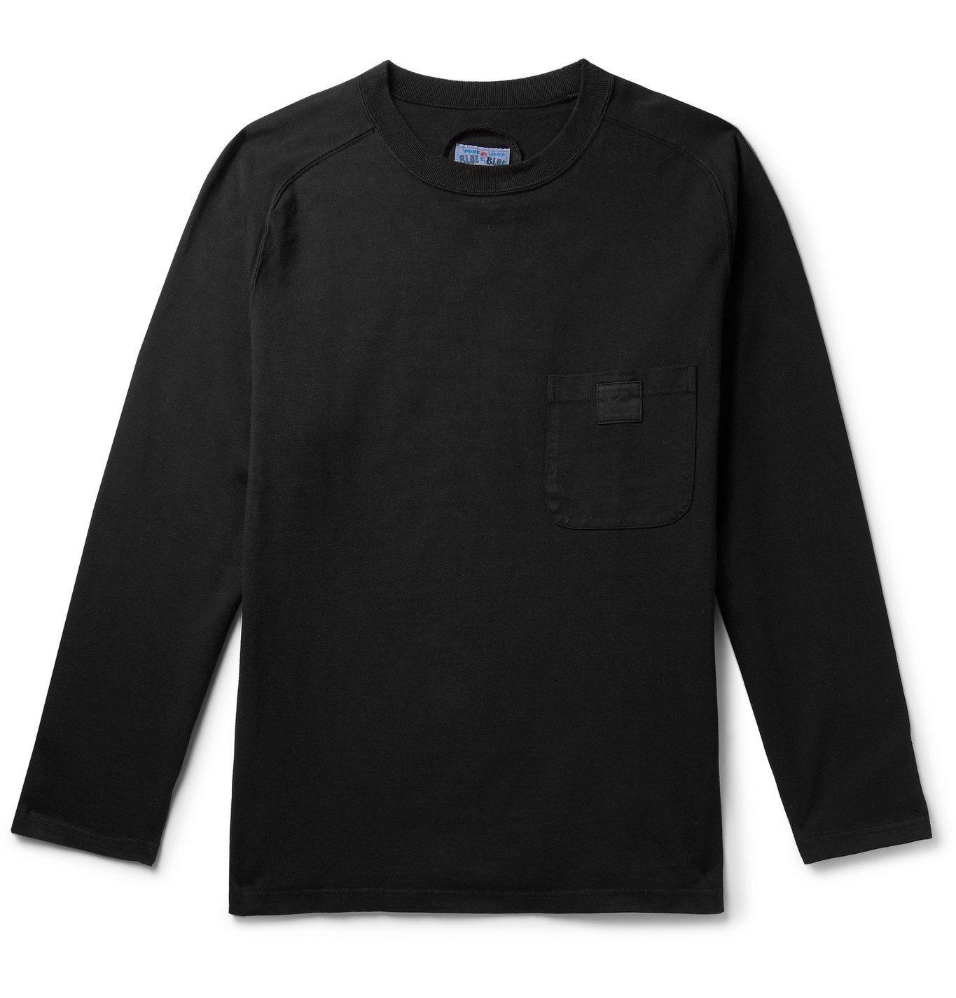 Photo: Blue Blue Japan - Cotton-Jersey T-Shirt - Black