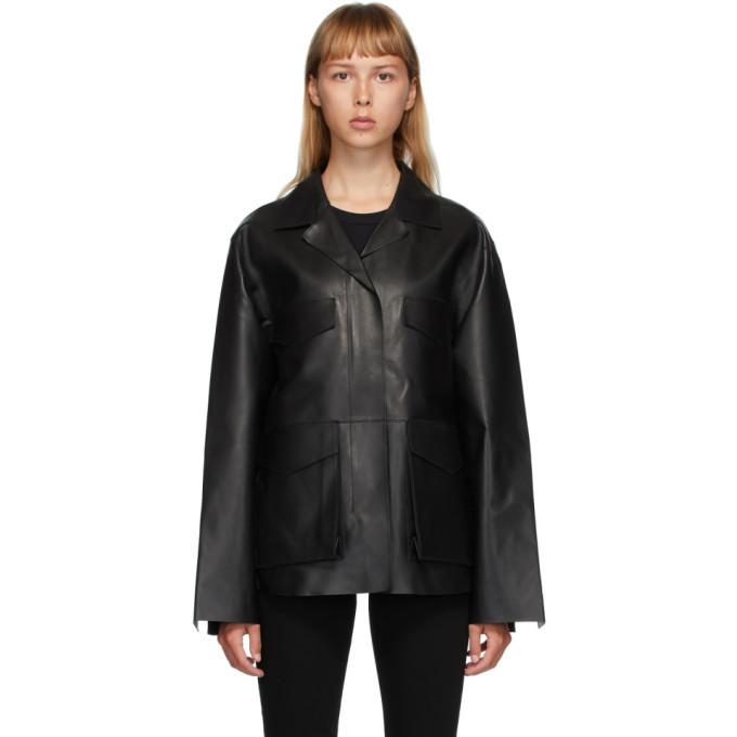 Photo: Toteme Black Leather Avignon Jacket