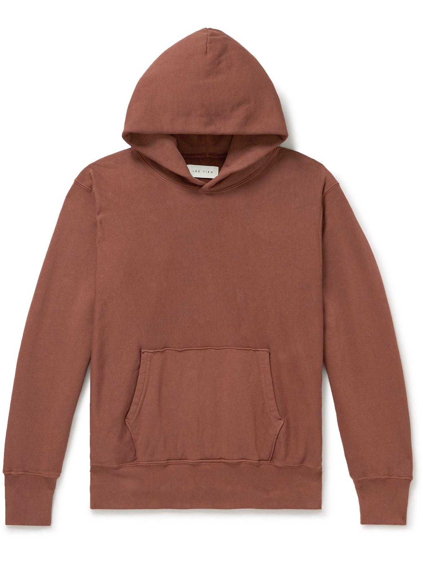 Photo: Les Tien - Garment-Dyed Fleece-Back Cotton-Jersey Hoodie - Unknown