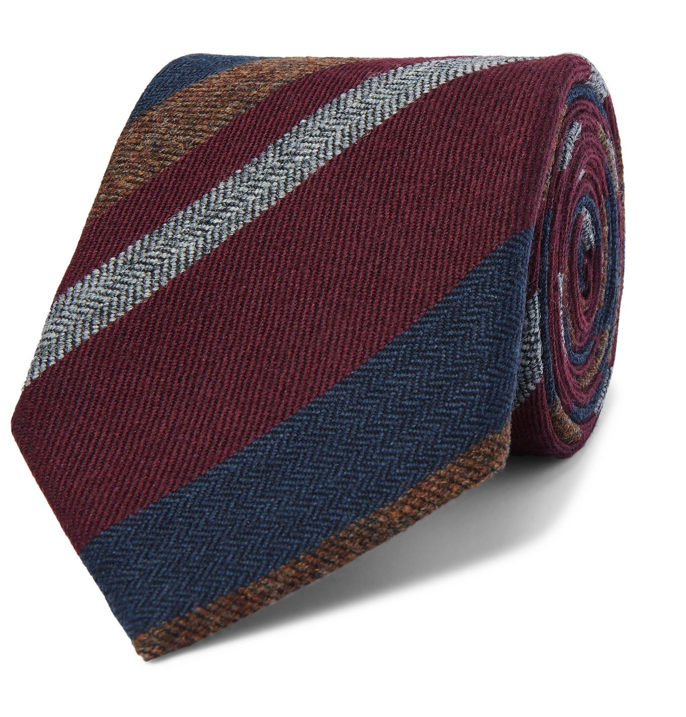 Photo: Bigi - 9cm Striped Cashmere Tie - Multi