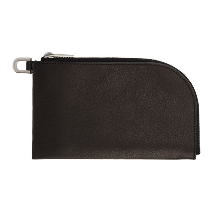 Rick Owens Black Zip Wallet