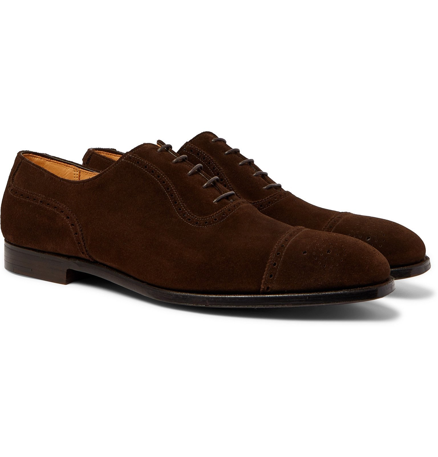 Photo: George Cleverley - Adam Suede Brogues - Brown