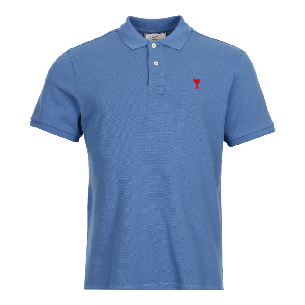 Sky Blue  Short sleeve  Collared New Mens Ami  Polo Shirt