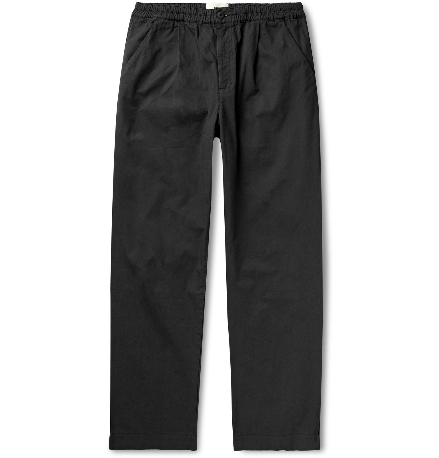Photo: Folk - Loom Garment-Dyed Cotton-Canvas Trousers - Black