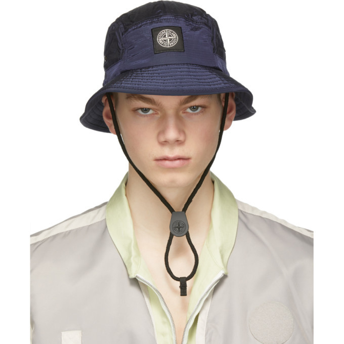 Photo: Stone Island Blue Ripstop Metal Hat