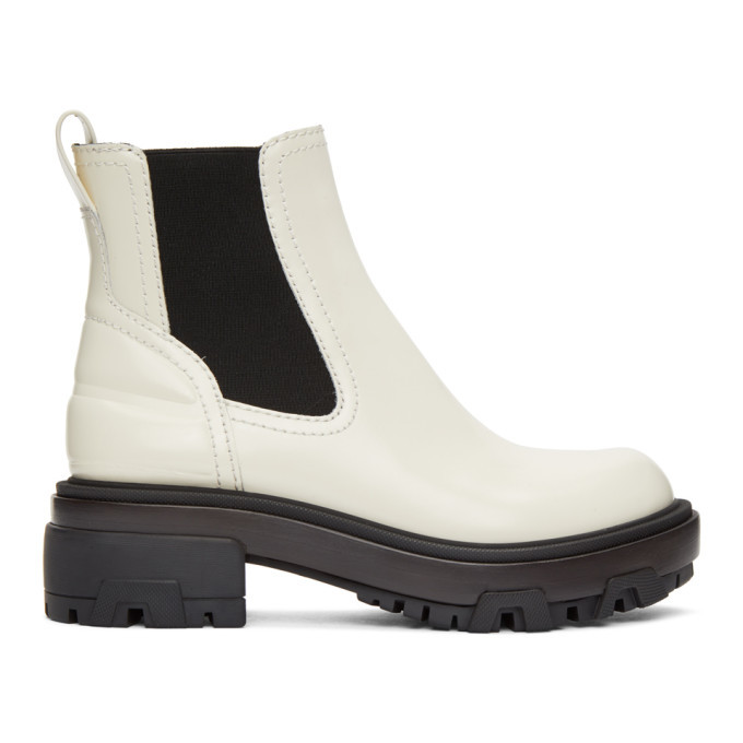 Photo: rag and bone Off-White Leather Shaye Boots