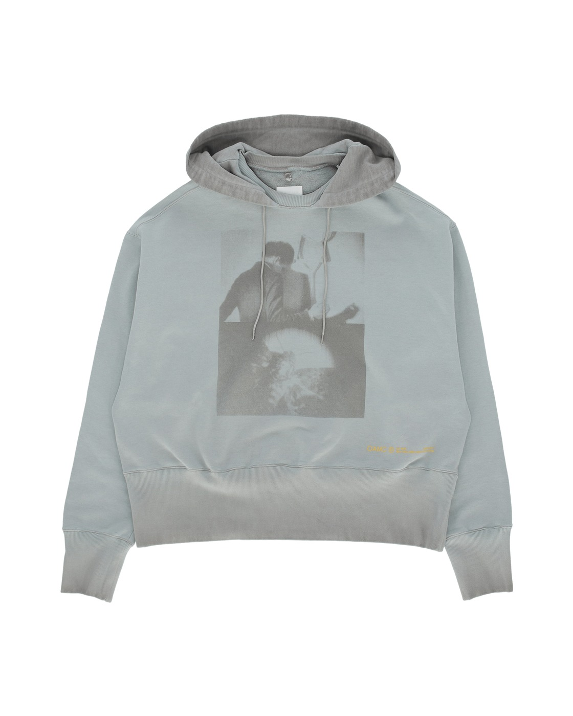 Photo: Oamc Solar Hooded Sweatshirt Light Grey