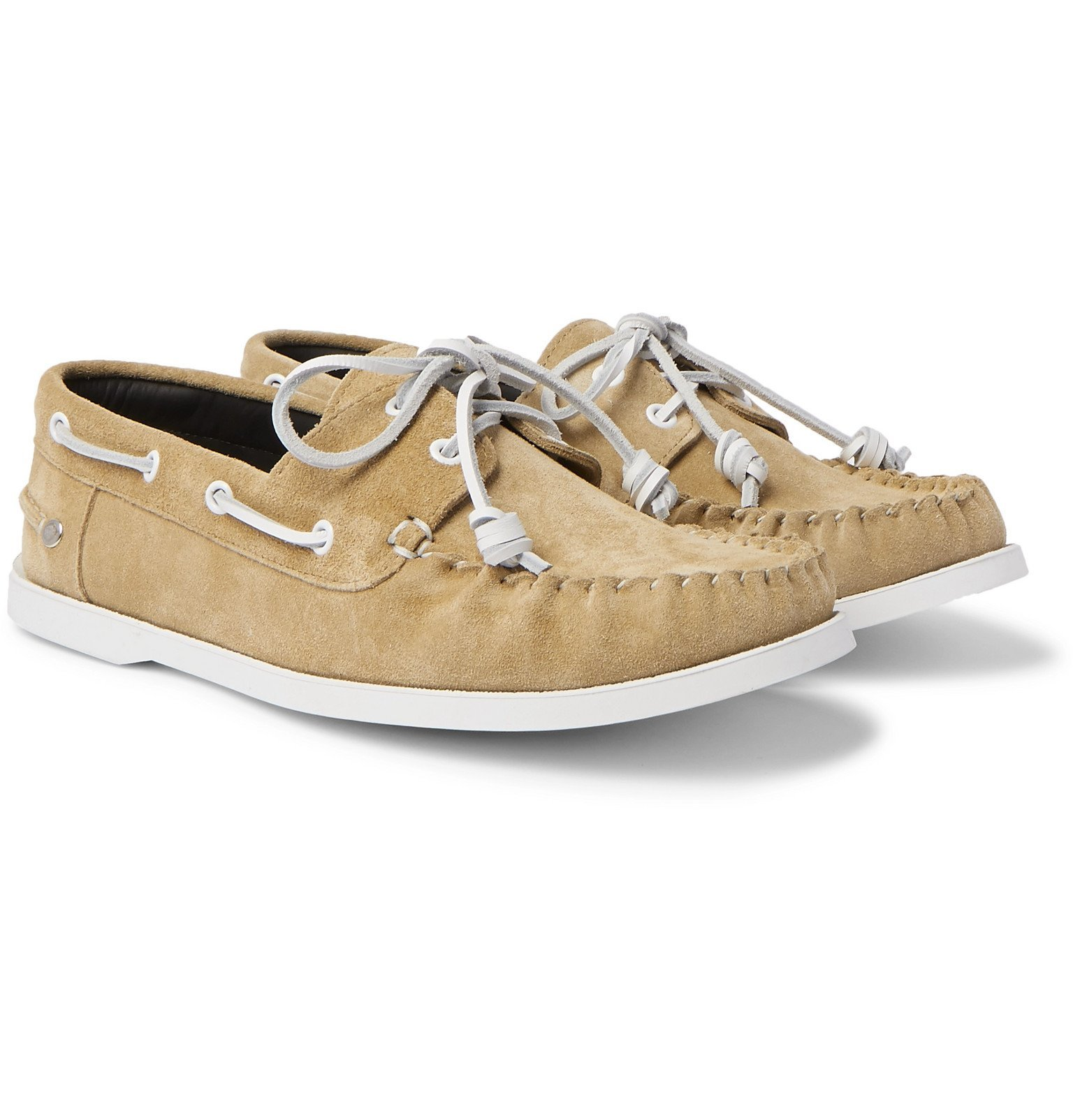 Photo: Loewe - Suede Boat Shoes - Gold