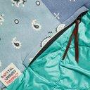 KAPITAL - Oversized Patchwork Bandana-Print Cotton-Jersey and Quilted Satin Sweatshirt - Blue