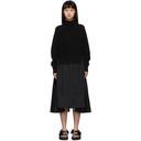 Sacai Black Knit Wool Dress
