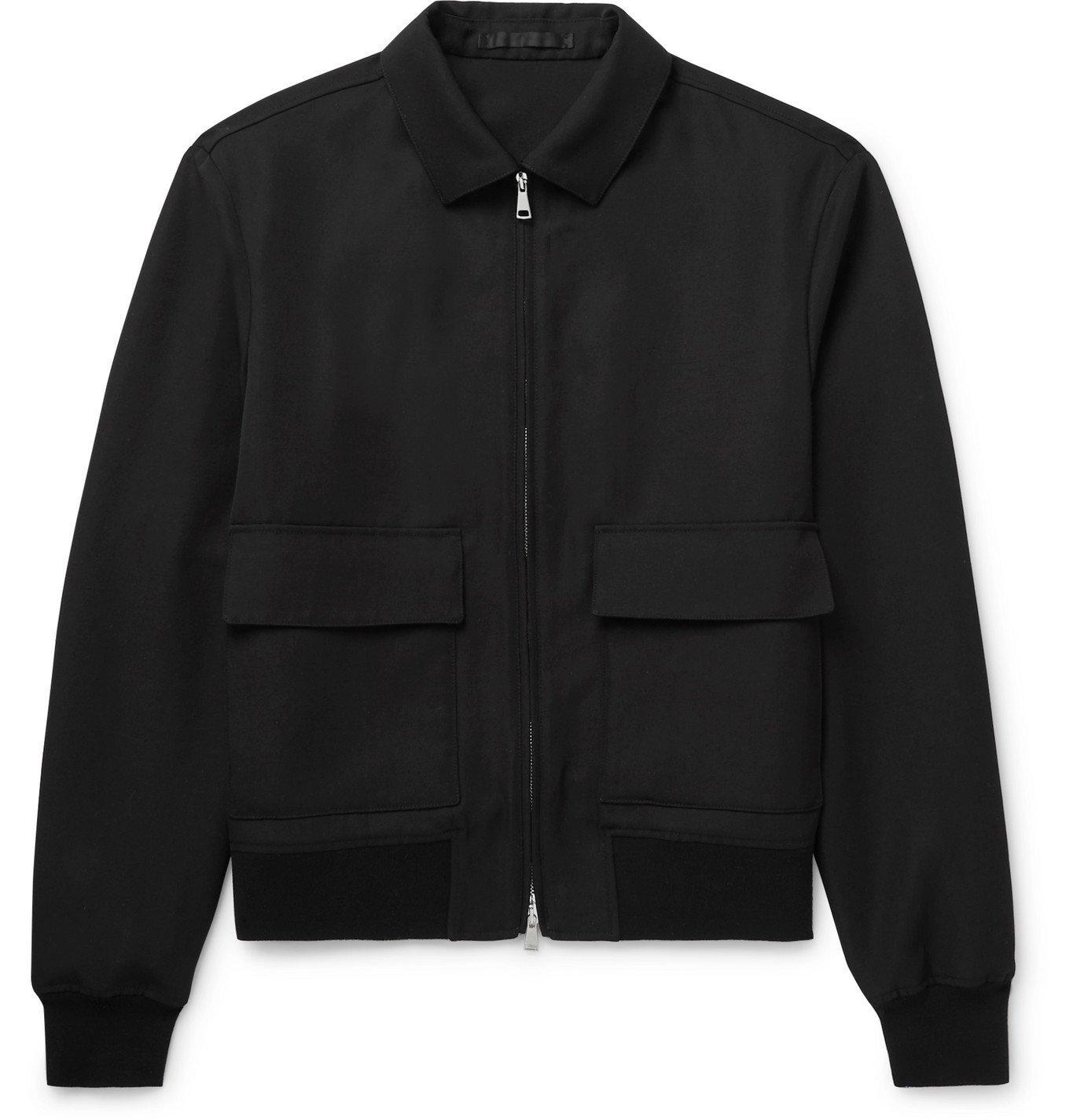 Photo: Mr P. - Virgin Wool-Twill Blouson Jacket - Black