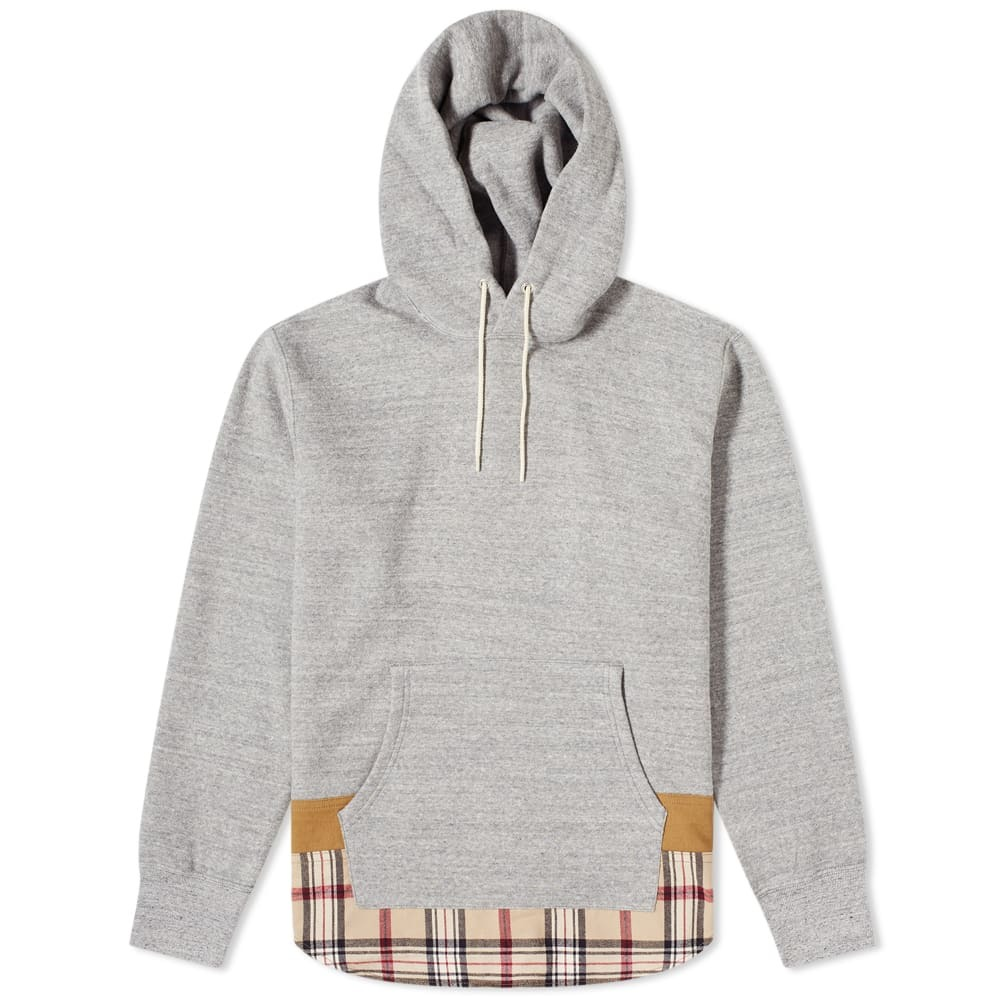 Photo: Comme des Garcons Homme Checked Hem Popover Hoody