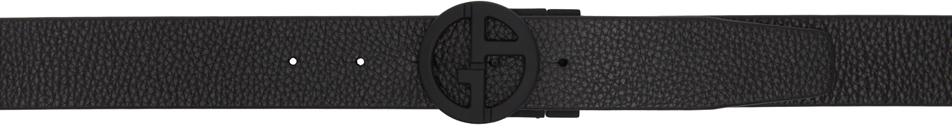 Photo: Giorgio Armani Reversible Black Leather Logo Belt