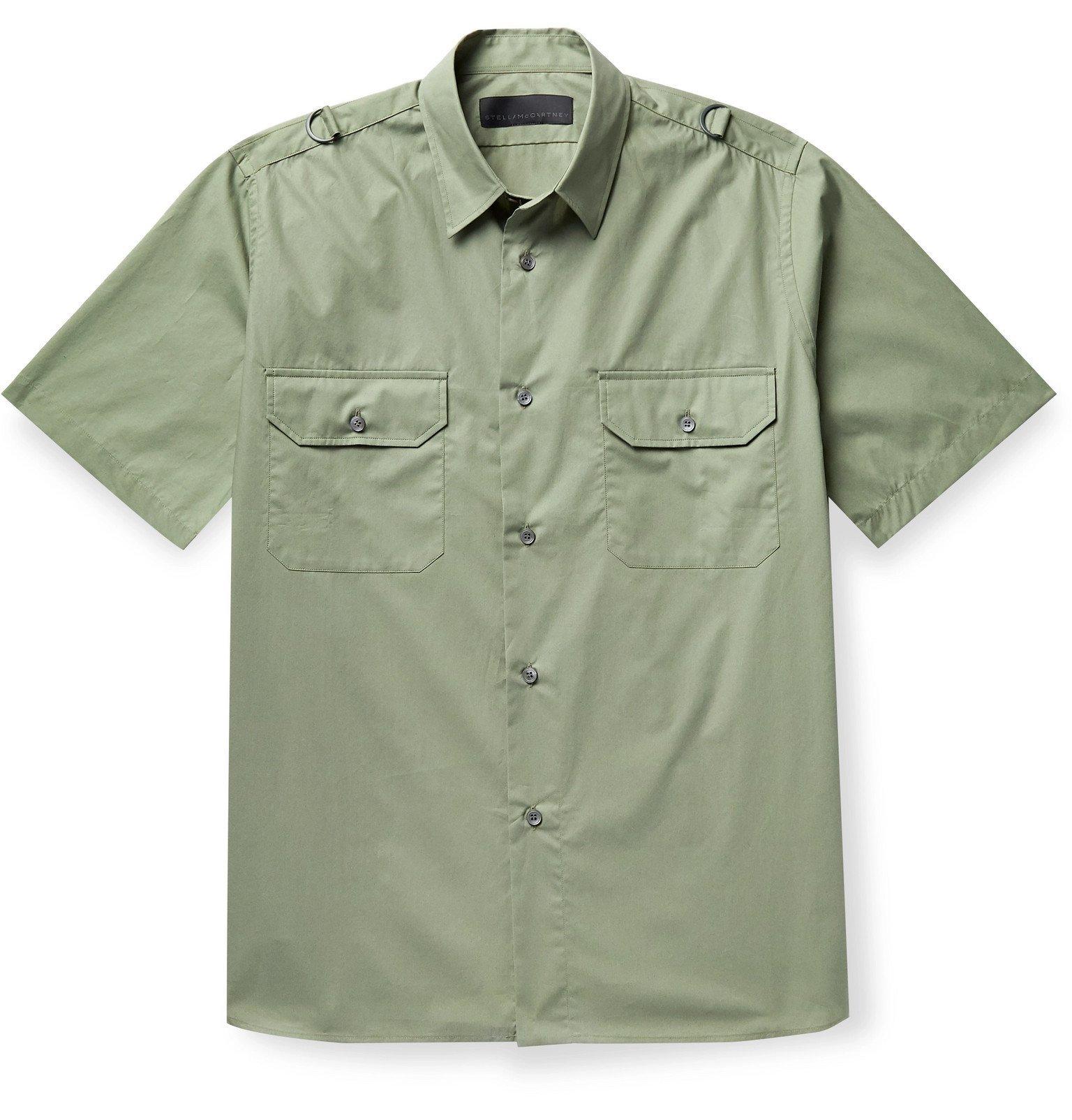 Stella McCartney - Stan Cotton-Poplin Shirt - Green