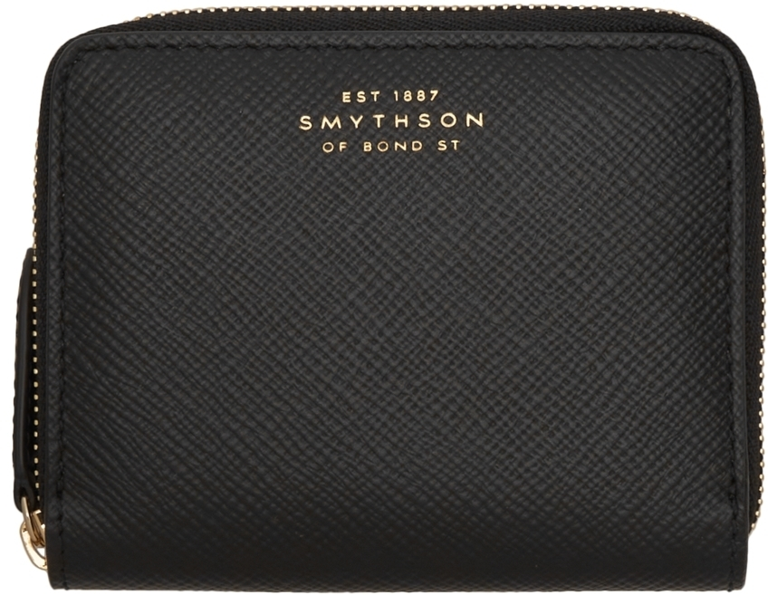 Photo: Smythson Black Panama Zip Wallet