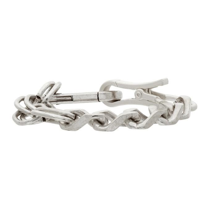 Photo: Heron Preston Silver Multichain Bracelet