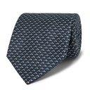 Giorgio Armani - 8cm Silk-Jacquard Tie - Men - Blue