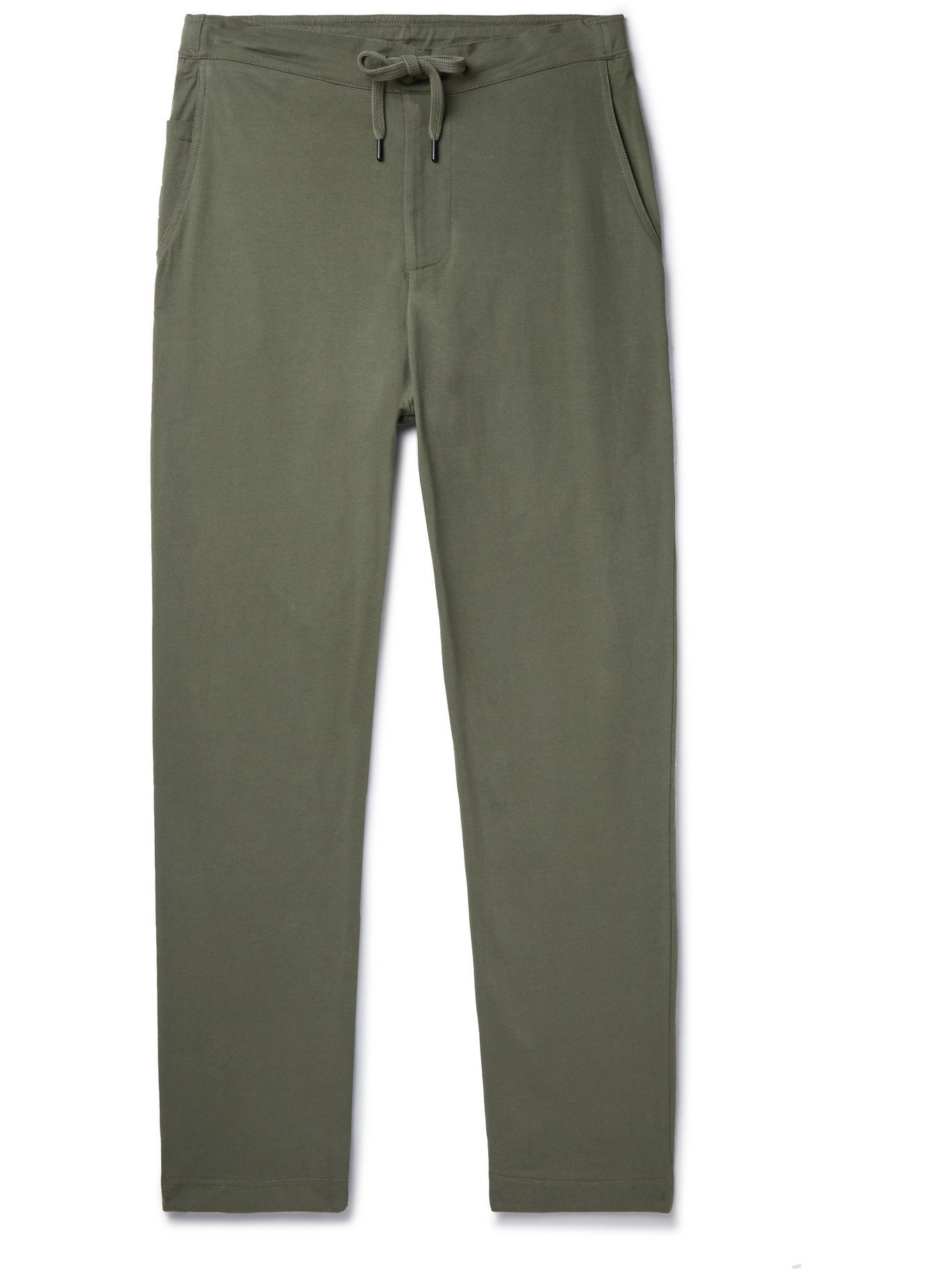 Photo: SCHIESSER - Matthias Tapered Combed Cotton-Jersey Sweatpants - Green