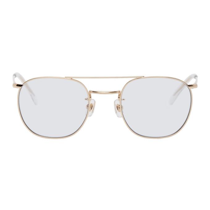 Photo: Wacko Maria Blue Round Sunglasses