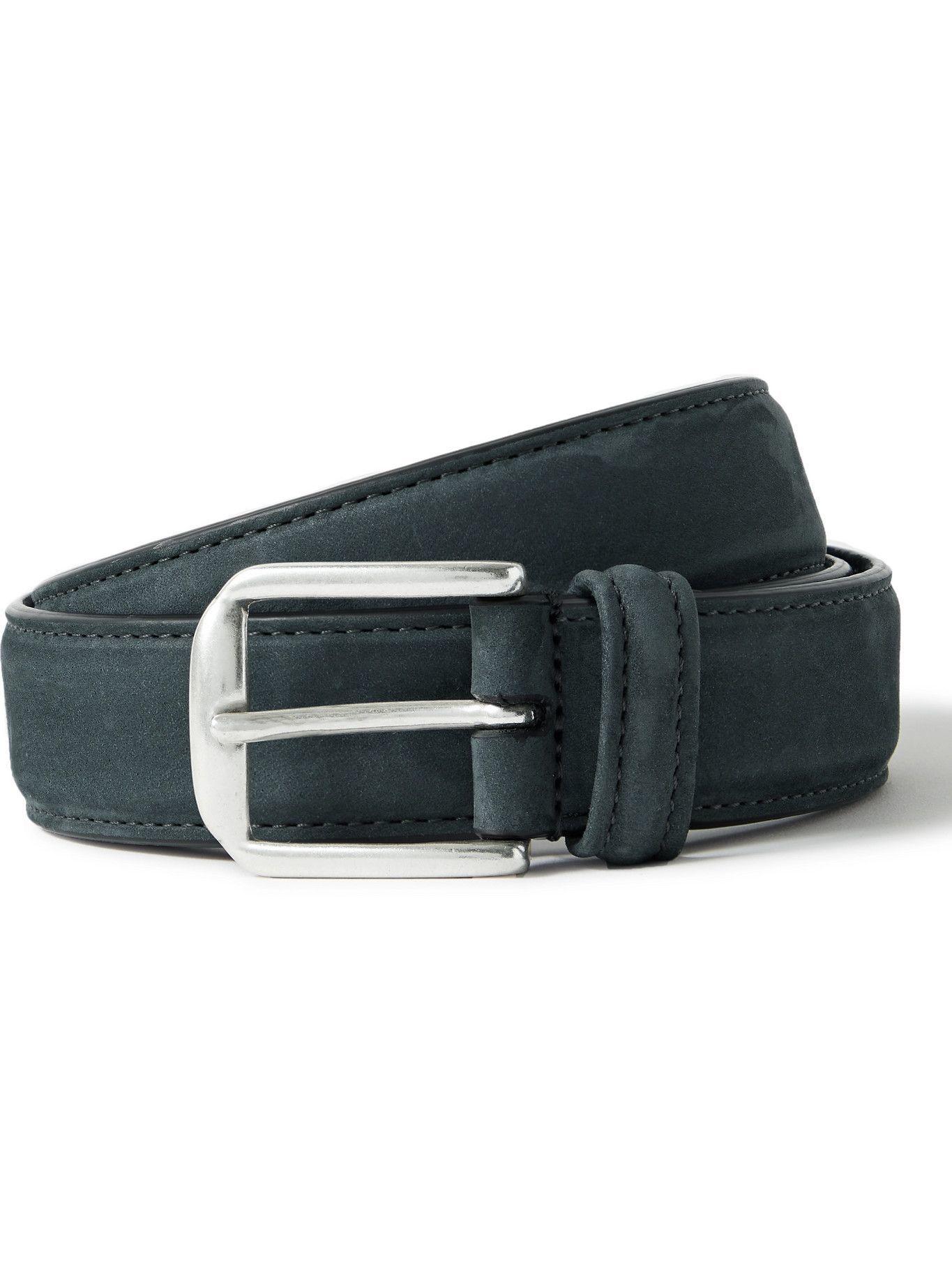 Photo: ANDERSON'S - 3cm Nubuck Belt - Blue