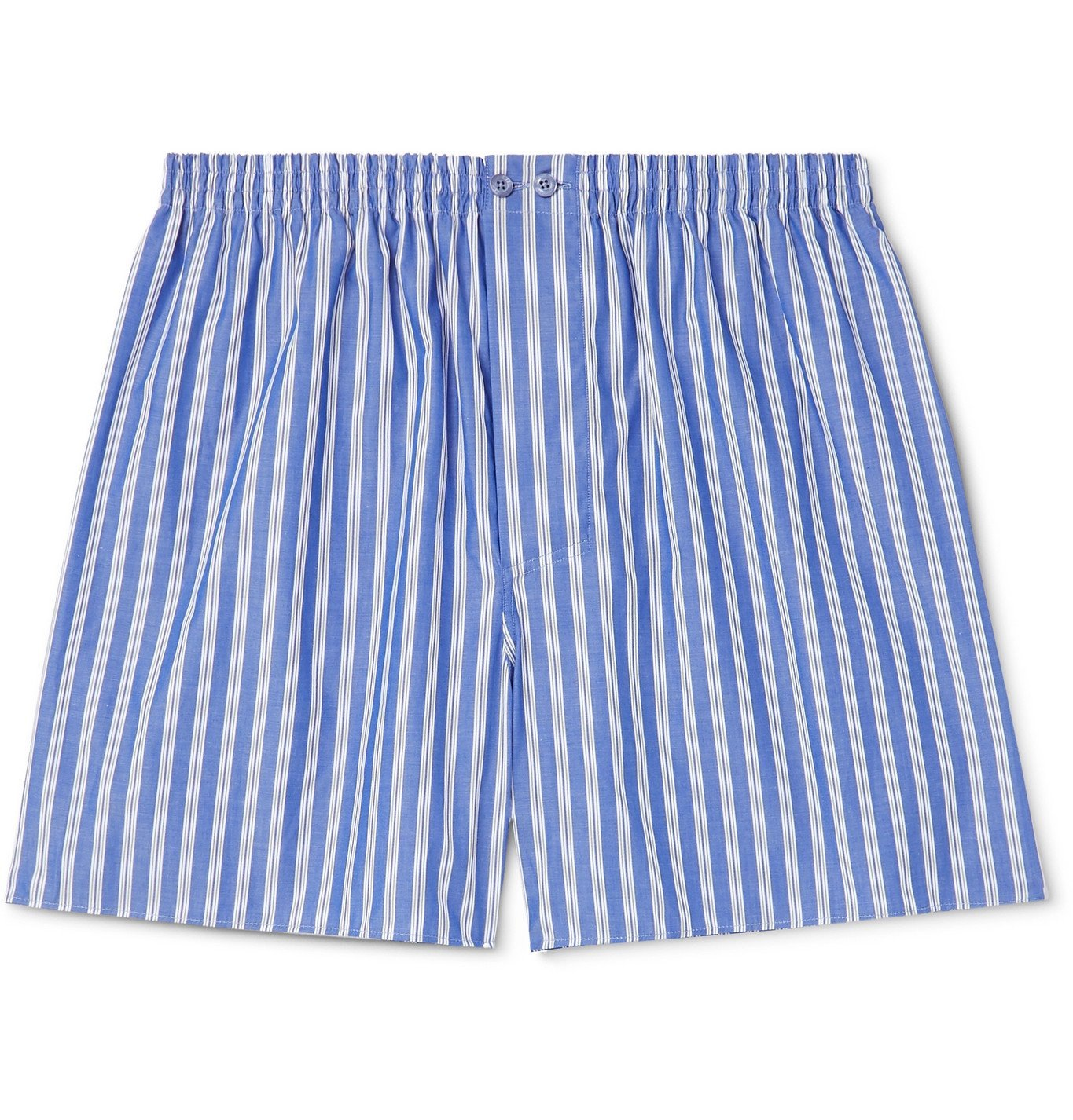 Photo: Zimmerli - Striped Cotton Boxer Shorts - Blue