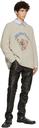 Martine Rose Grey Knit Basset Sweater