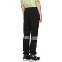 Sacai Black Reflective Sponge Lounge Pants