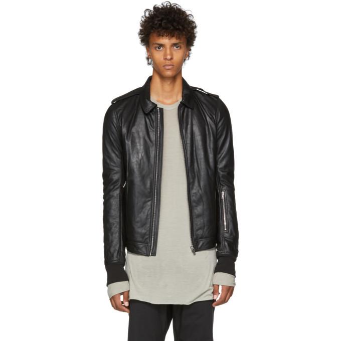 Photo: Rick Owens Black Blister Leather Rotterdam Jacket