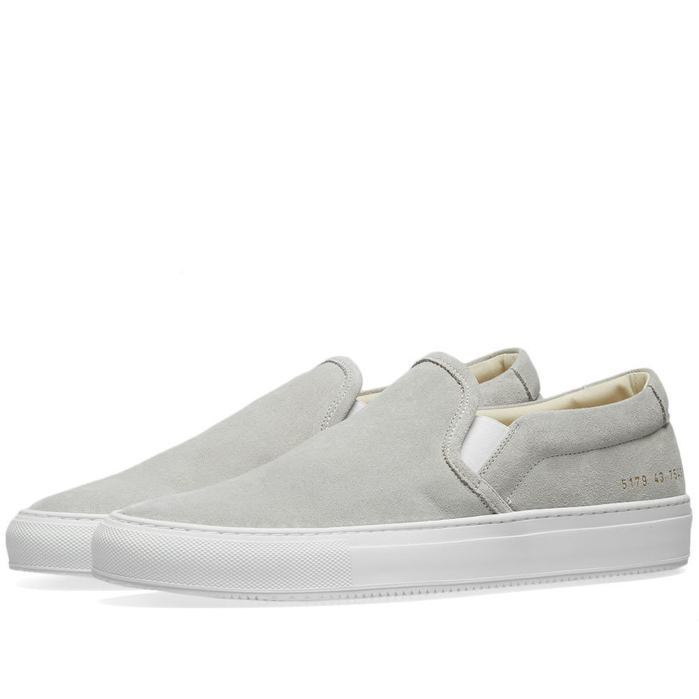 Photo: Common Projects Slip On Suede Grey