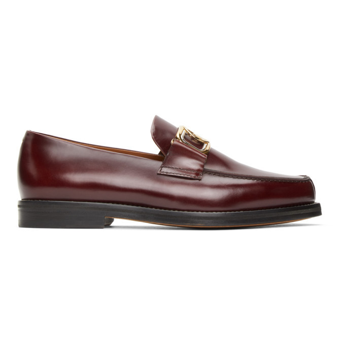 Photo: Lanvin Burgundy Swan Loafers