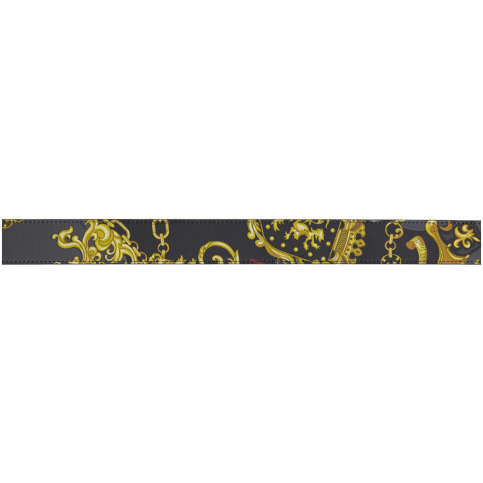 Versace Jeans Couture Black Shields Belt