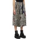 Sacai Black and White Girard Print Skirt