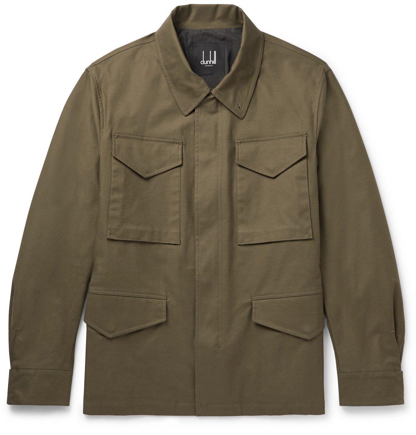 Dunhill - Cotton-Blend Gabardine Field Jacket - Green