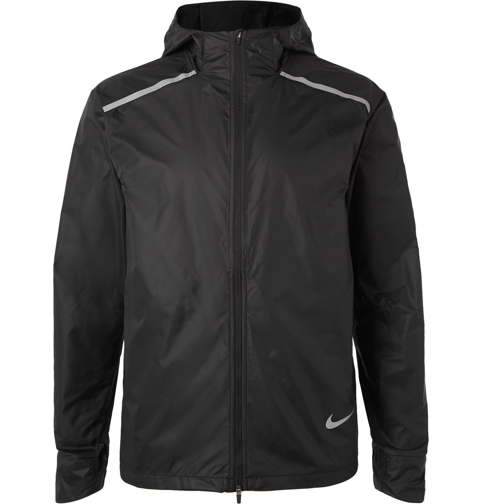 Nike Running - Ripstop Repel Hooded Jacket - Black