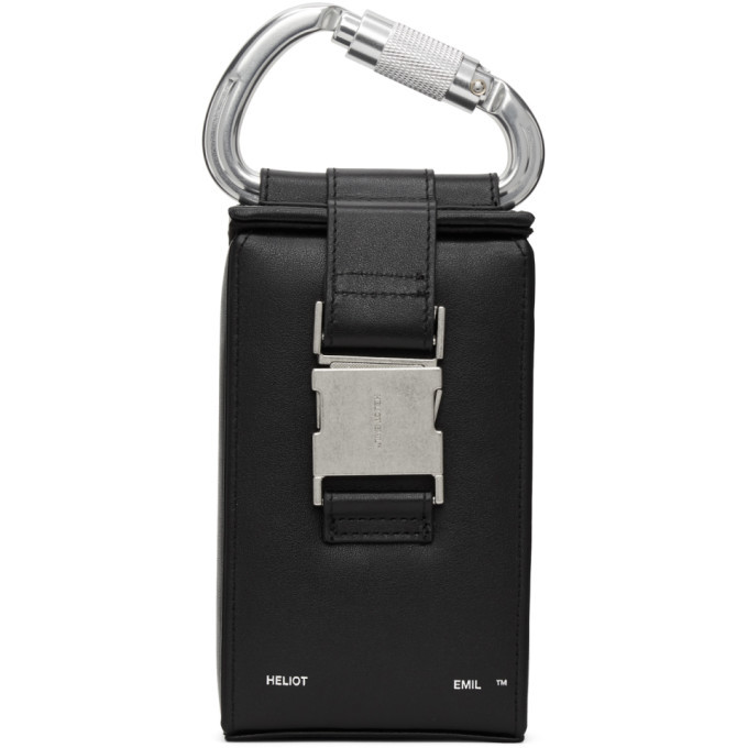 Photo: HELIOT EMIL Black Leather Phone Sling Pouch