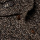 RRL - Shawl-Collar Wool, Cotton and Linen-Blend Cardigan - Brown