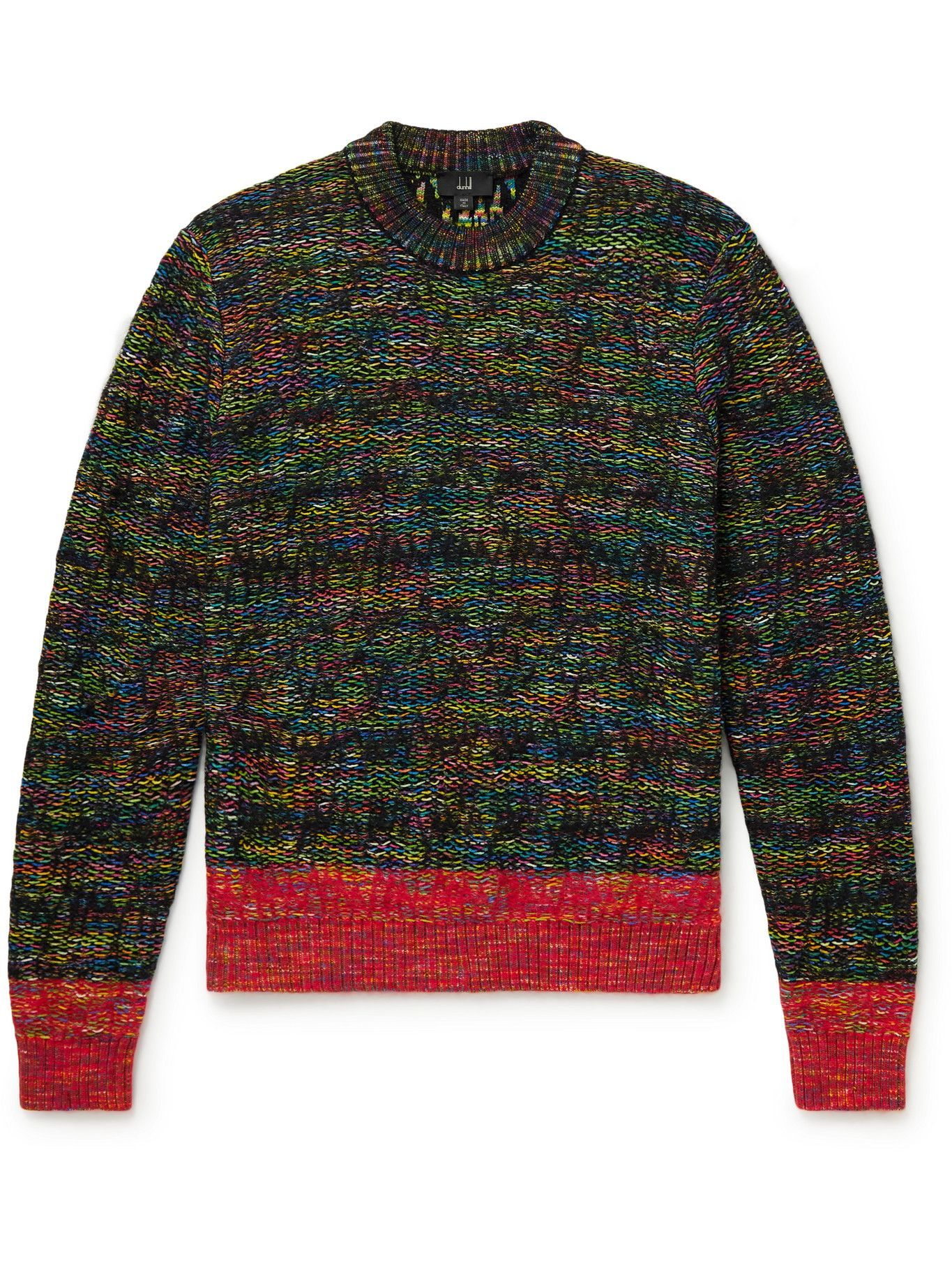 Photo: Dunhill - Space-Dyed Knitted Sweater - Green