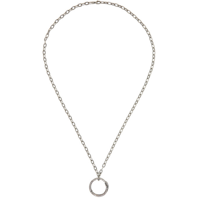Photo: Gucci Silver Snake Ring Necklace