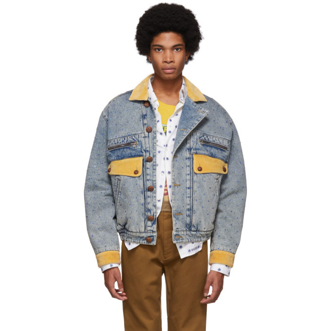 Photo: Gucci Blue Denim Rhinestone Jacket