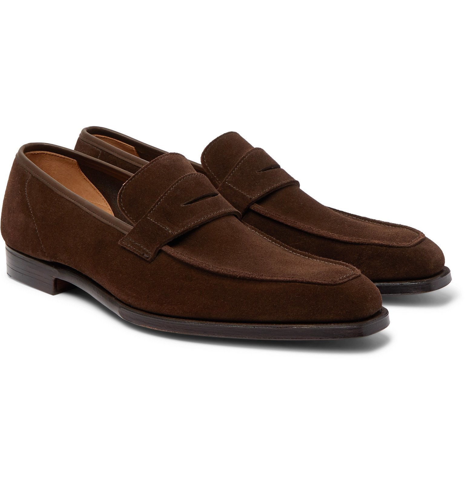Photo: George Cleverley - George Suede Penny Loafers - Brown