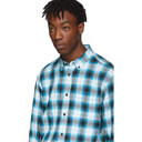 Acne Studios Blue and White Check Shadow Shirt