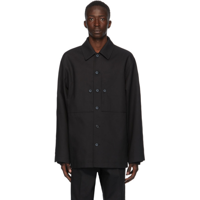 Photo: Jil Sander Black Pique Structured Jacket